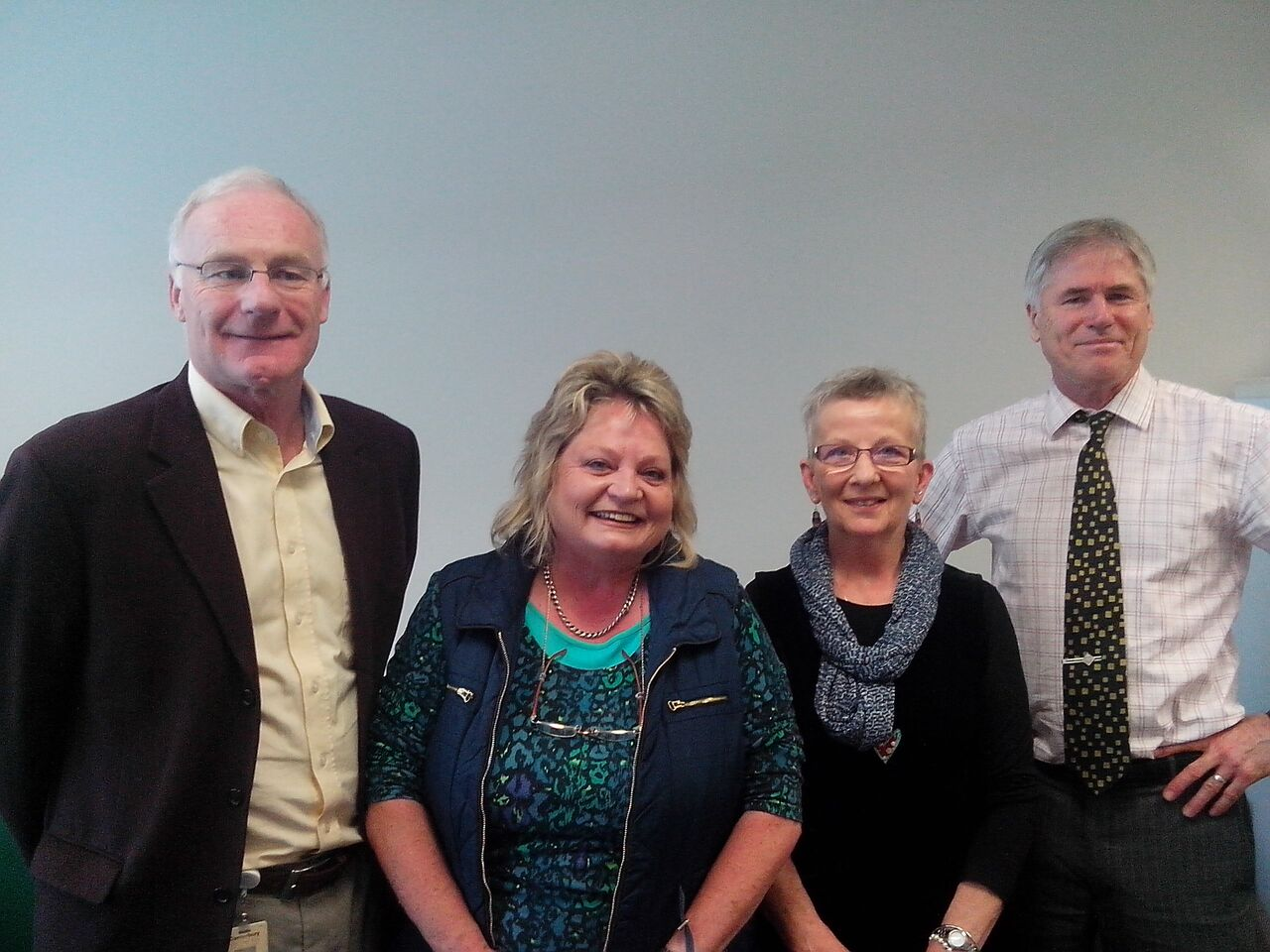 The HD Combined clinic team, left to right : Assoc.Prof Sandy McLeod, Maggie Jury, Marnie McIvor, Prof. Tim Anderson