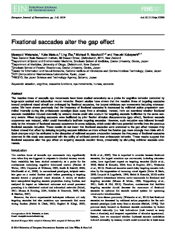 Download Fixational saccades alter the gap effect.